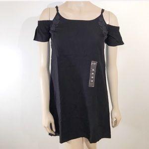 Jessica Simpson Size XS Black Dress Lace Shoulder